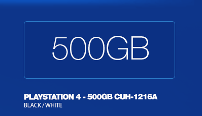 SONY PlayStation 4 - 500GB CUH-1216A