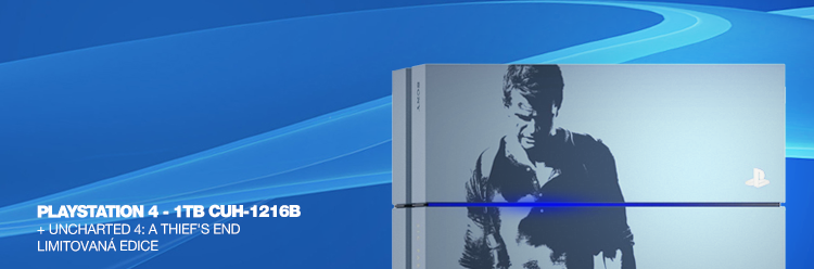 SONY PlayStation 4 - 1TB CUH-1216B + Uncharted 4: A Thief's End