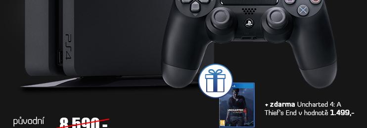 PlayStation 4 - 500GB Slib Black CUH-2016A