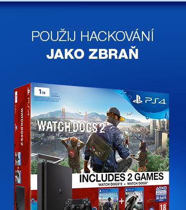 SONY PlayStation 4 - 1TB Slim Black CUH-2016B  Watch Dogs 2, Watch Dogs