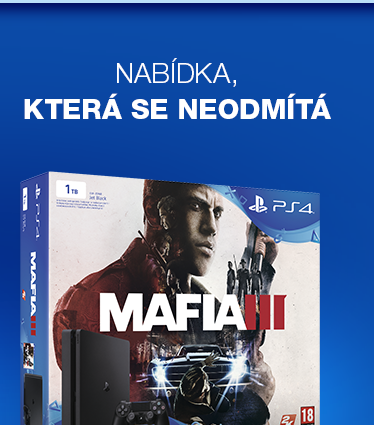 SONY PlayStation 4 - 1TB Slim Black CUH-2016B  MAFIA III