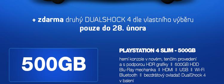 SONY PlayStation 4 - 500GB Slim Black+or+White  CUH-2016A