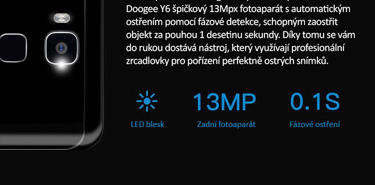 DOOGEE Y6 16GB LTE šedá