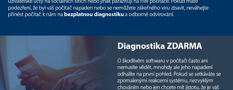 Antivirová kontrola a odvirování PC a notebooku,  včetně antiviru ESET na 1 měsíc