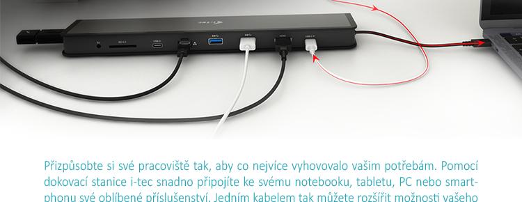 i-tec USB 3.1 USB-C HDMI Flat Dokovací stanice