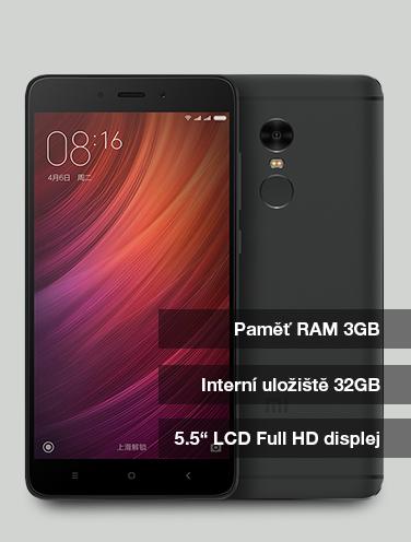 Xiaomi Redmi Note 4 - CZ LTE 32GB černá a zlatá