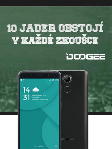 DOOGEE F7 šedá-černá
