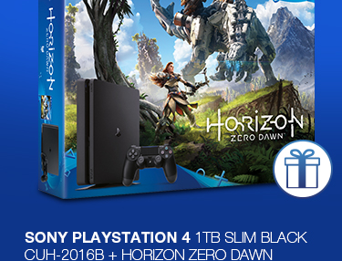 SONY PlayStation 4 - 1TB slim Black CUH-2016B + Horizon Zero Dawn