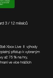 Microsoft Xbox Live Gold Card 3 / 12 měsíců