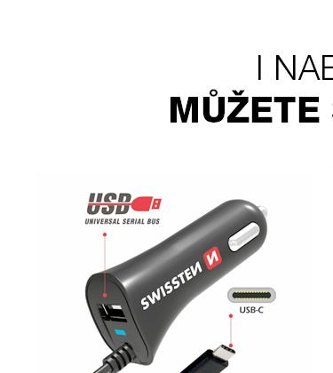 SWISSTEN CL AUTONABÍJEČKA USB-C A USB