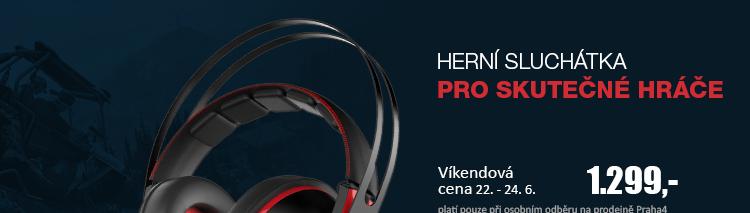 ASUS CERBERUS V2 herní sluchátka červená