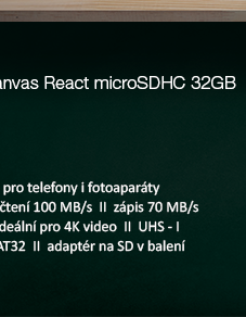 Kingston Canvas React microSDHC 32GB