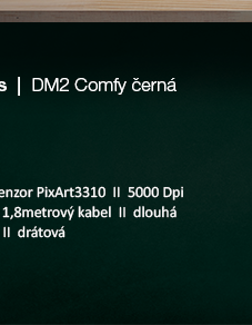 Dream Machines DM2 Comfy černá