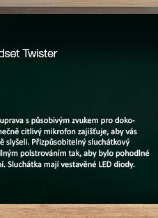 Sandberg sluchátka Twister s mikrofonem