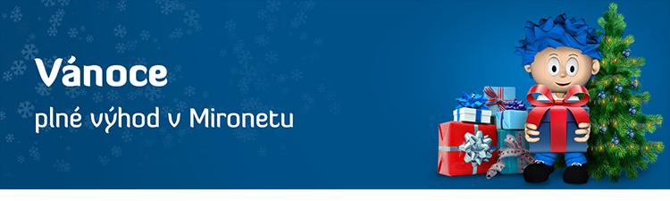 Vánoce plné výhod v Mironetu