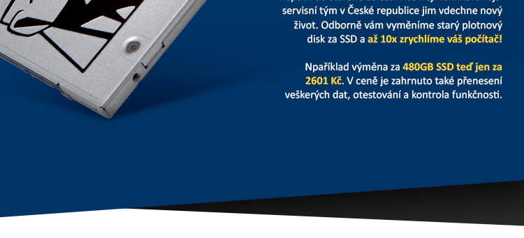 Upgrade notebooku nebo PC