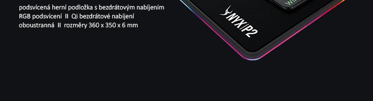 GAMDIAS NYX P2 RGB Qi černá