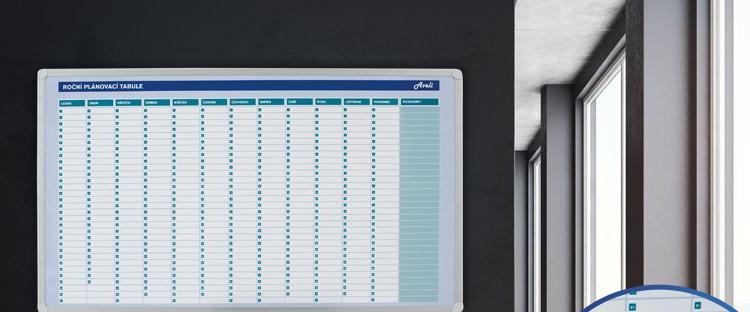 AVELI Plánovací tabule roční104x60 cm