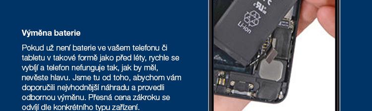 Výměna baterie mobilu nebo tabletu