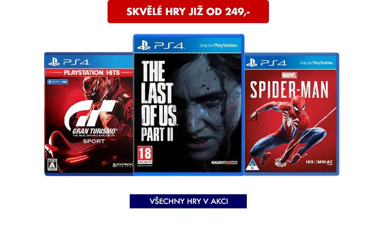 PS4 hry v akci