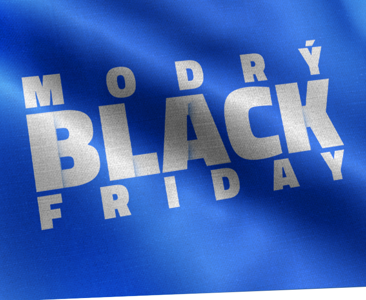 Modrý Black Friday