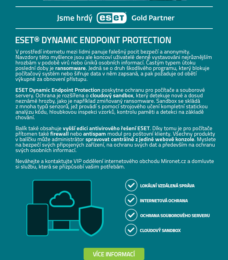 ESET® DYNAMIC ENDPOINT PROTECTION